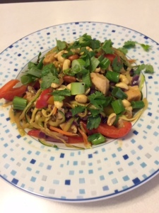 Spiralized Zucchini Pad Thai - New Kid on the Guac