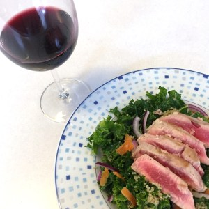 Seared Ahi Kale Salad - New Kid On The Guac