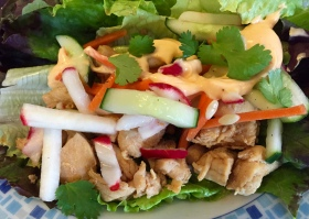 Chicken Banh Mi Lettuce Wrap - New Kid On The Guac