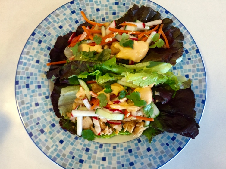 Chicken Banh Mi Lettuce Wraps - New Kid On The Guac