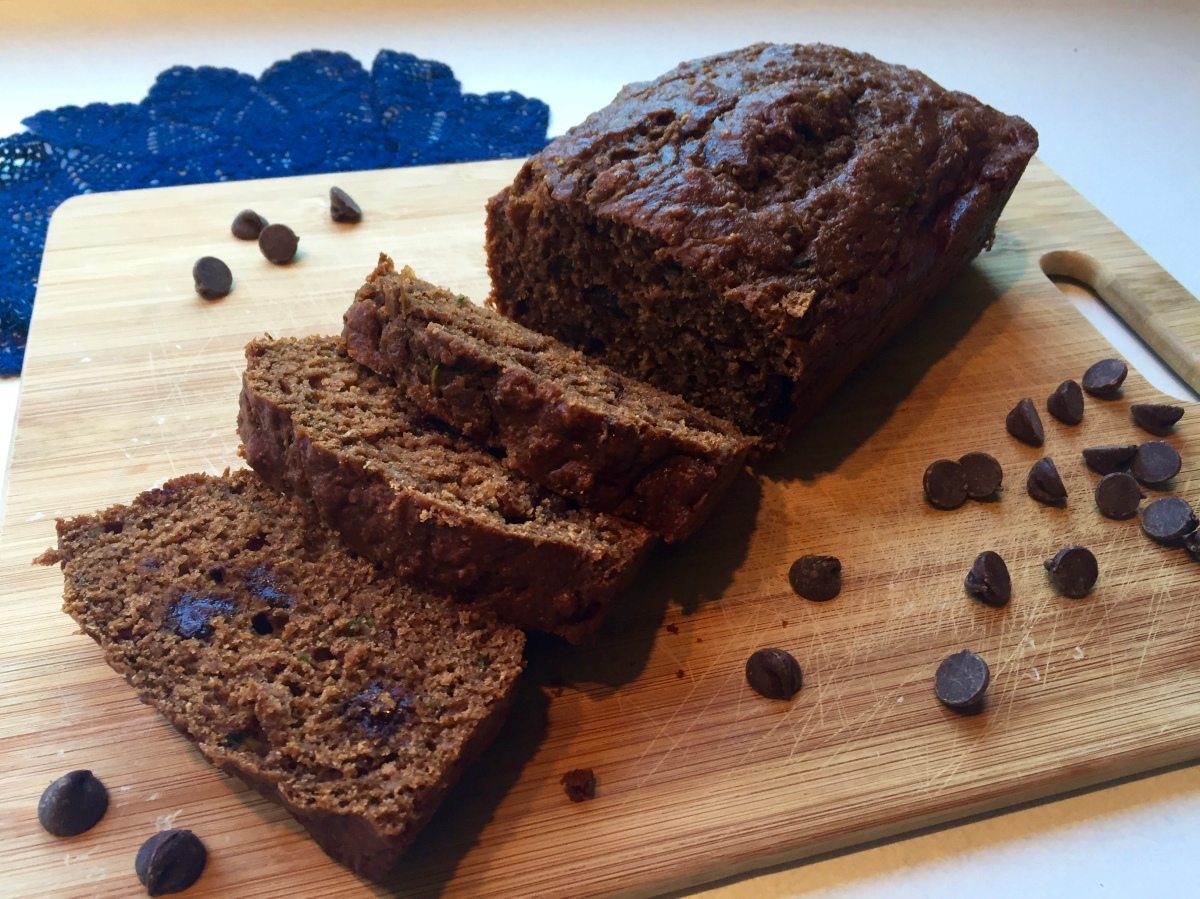 Chocolate Greek Yogurt Zucchini Bread
