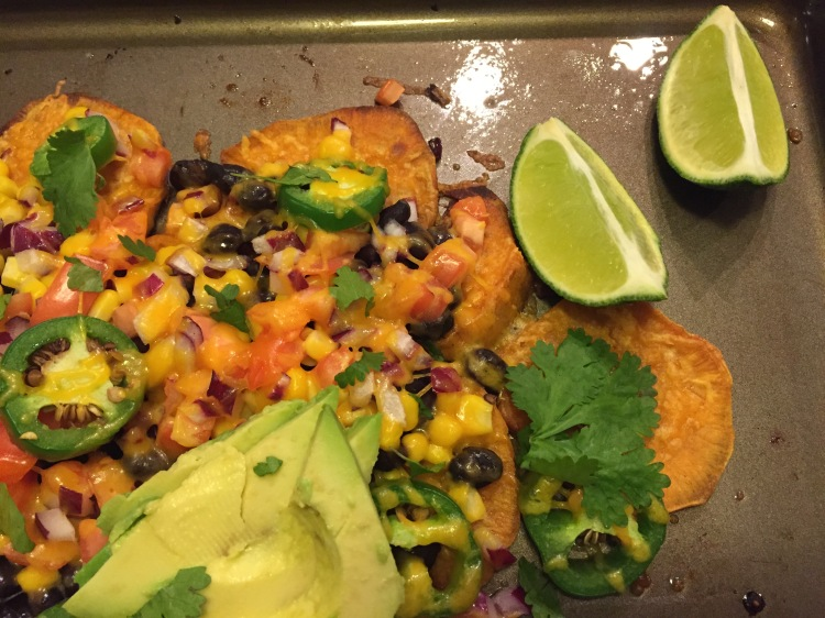 Sweet Potato Black Bean Nachos - New Kid On The Guac