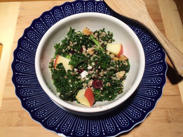 Quinoa, Apple and Kale Salad with Honey Mustard Dressing - New Kid On The Guac