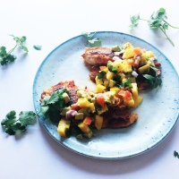 Cajun Tilapia with Mango-Avocado Salsa