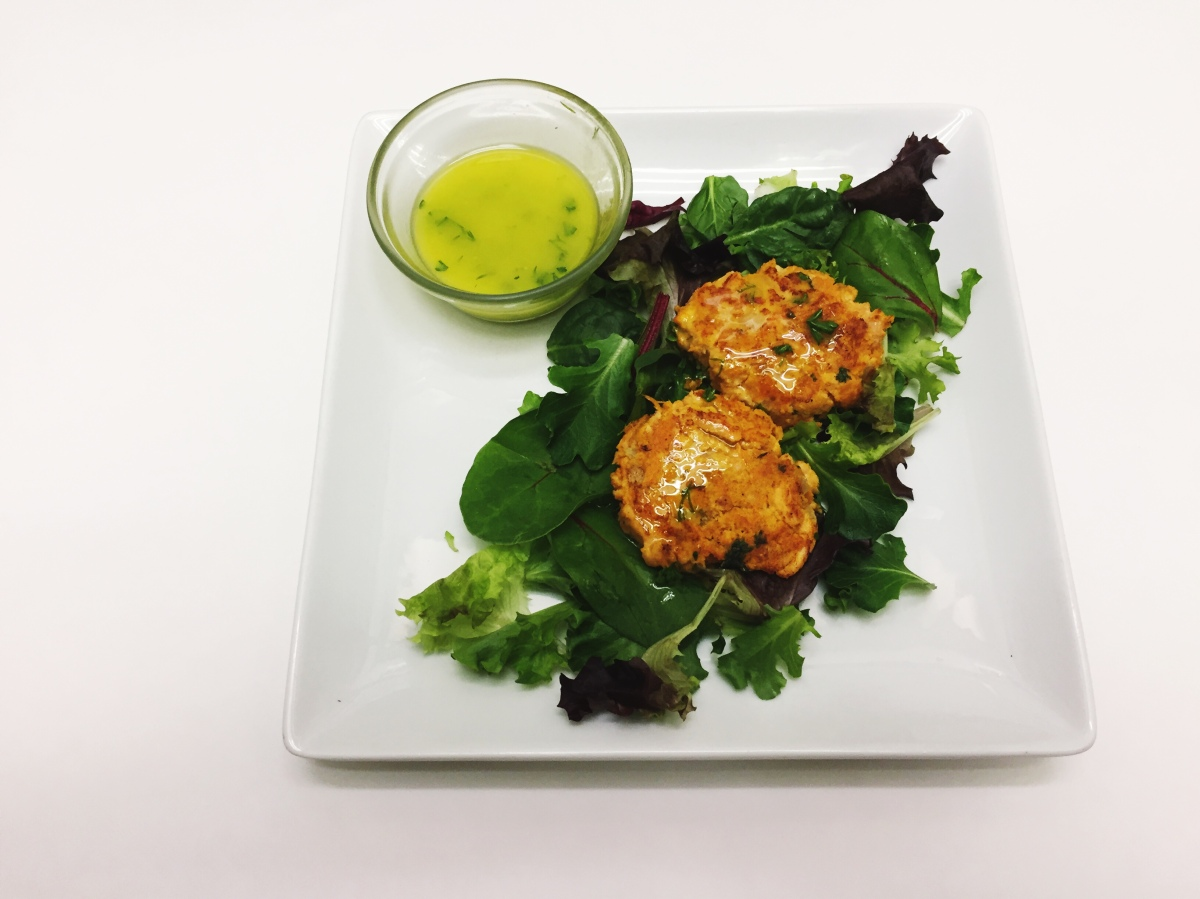 Salmon Sweet Potato Cakes with Lemon Herb Aioli