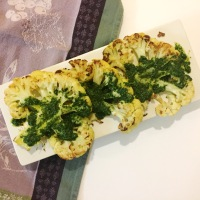 "Chimichurri Cauliflower ""Steak"""